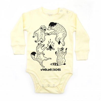 BABY 0-18M [C] LP0103 WOODLAND FRIENDS ONESIE