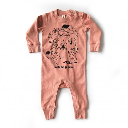 BABY 0-18M [C] LP0204 WOODLAND FRIENDS PLAYSUIT