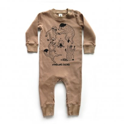 BABY 0-18M [C] LP0201 WOODLAND FRIENDS PLAYSUIT