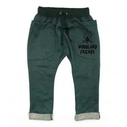 BABY&KIDS LP0502 [D] 0M.-7Y. WOODLAND FRIENDS ROLL UP SLOUCH PANTS