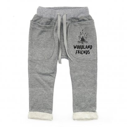 BABY&KIDS LP0503 [D] 0M.-7Y. WOODLAND FRIENDS ROLL UP SLOUCH PANTS