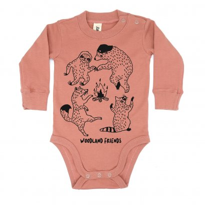 BABY 0-18M [C] LP0104 WOODLAND FRIENDS ONESIE