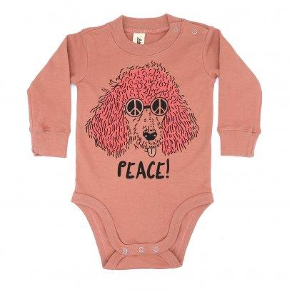 BABY 0-18M [B] LP0188 PEACE ONESIE