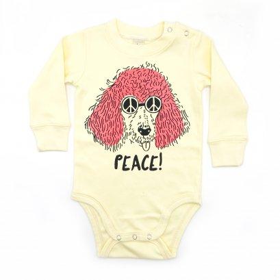 BABY 0-18M [B] LP0187 PEACE ONESIE