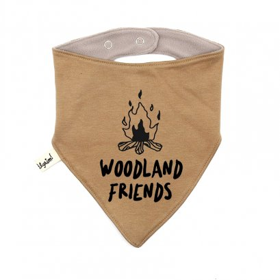 KHAKI  AC0804 WOODLAND FRIENDS BIBS