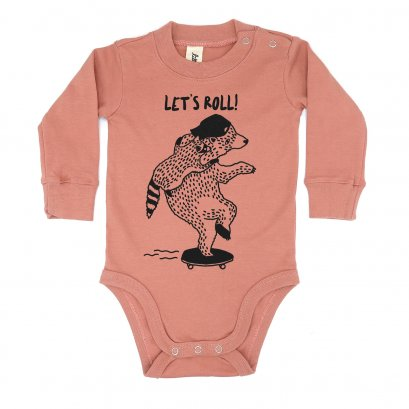 BABY 0-18M [B] LP0155 LET'S ROLL ONESIE