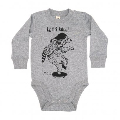 BABY 0-18M [B] LP0153 LET'S ROLL ONESIE