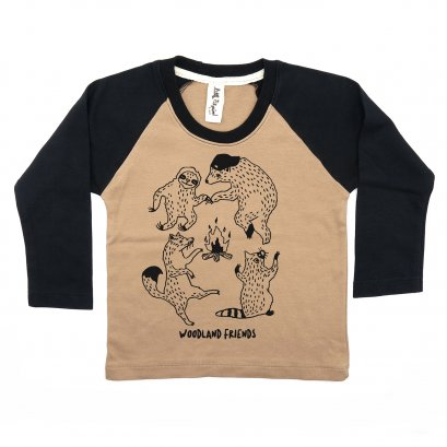 BABY/ KIDS / WOMEN / MEN LP0305 WOODLAND FRIENDS RAGLAN SLEEVE