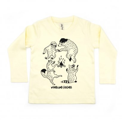 BABY/ KIDS / WOMEN / MEN LP0303 WOODLAND FRIENDS CREW NECK LONG SLEEVE