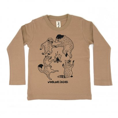 BABY/ KIDS / WOMEN / MEN LP0301 WOODLAND FRIENDS CREW NECK LONG SLEEVE