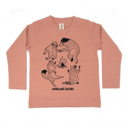 BABY/ KIDS / WOMEN / MEN LP0304 WOODLAND FRIENDS CREW NECK LONG SLEEVE