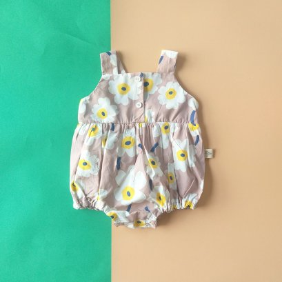 FLOWER ROMPER BACK TO FRONT / 100% PRINTED COTTON