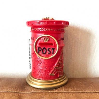 กระปุกออมสิน ตู้จดหมายไปรษณีย์โบราณ (สีแดง)
