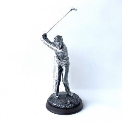 รูปปั้นเรซิ่น นักกอล์ฟชาย (ท่าตีสูง)
