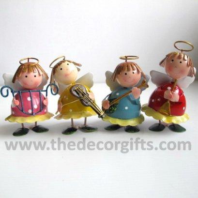 ตุ๊กตาสังกะสี เทพดนตรี (4 ตัว) ขนาดเล็ก
