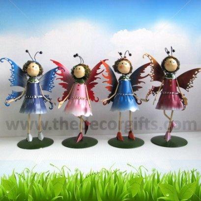 ตุ๊กตาสังกะสี นางฟ้าติดปีก (4 ตัว) ขนาดกลาง