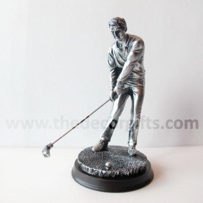 รูปปั้นเรซิ่น นักกอล์ฟชาย (ท่าตีต่ำ)
