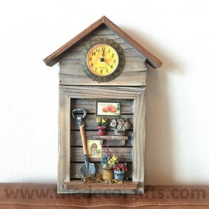 ตู้แขวนกุญแจ-นาฬิกา สไตล์วินเทจ (ลายจอบ)