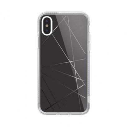 Case Studi iPhone XR, iPhone XS และ iPhone XS Max - GEOMETRIC - BLACK