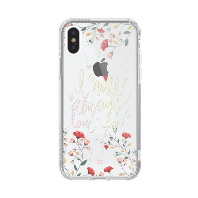Case Studi iPhone XR, iPhone XS และ iPhone XS Max  FLORAL - LOVE