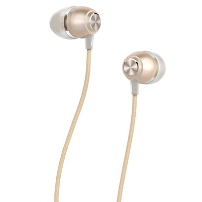 Devia P1 Marron In-Ear Headphones (Gold)