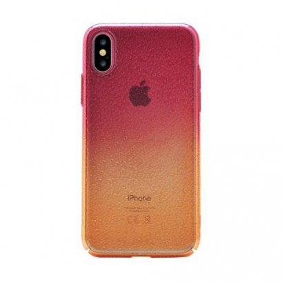 DEVIA AMBER CASE for iPhone X - ORANGE RED
