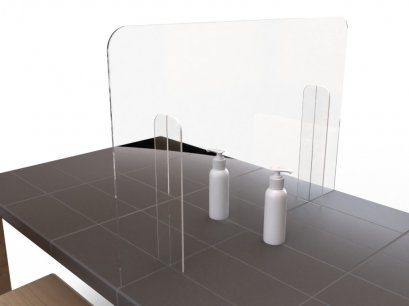 Covid-19 Acrylic partition stand