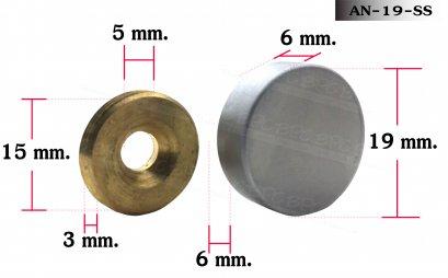 Nut bolt 19 mm Mate sliver