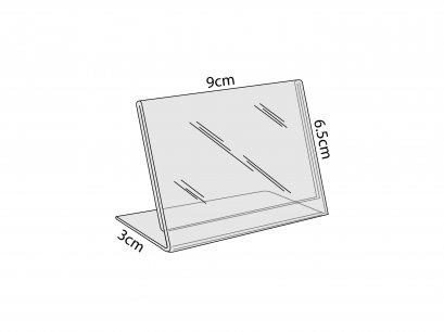 อะคริลิค L-Stand ตั้งโต๊ะ ขนาด 9x6.5 cm.