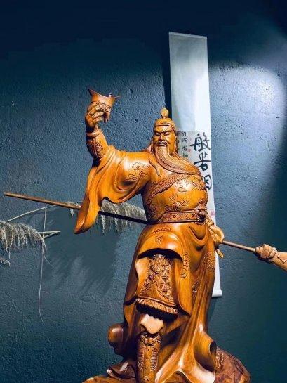 เทพเจ้ากวนอู ปางสำเร็จ ชุดเฉลิมฉลอง 65 cm.