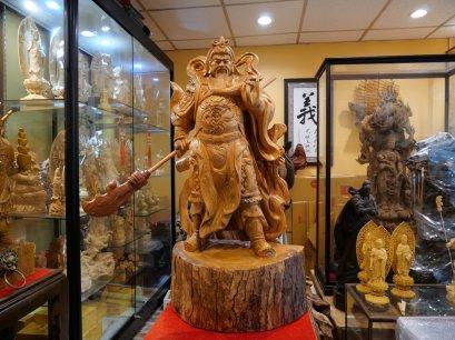 เทพเจ้ากวนอู ปางปราบมาร(ลี้กวนกง) 79 cm. ไม้หอมการบูร