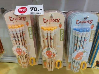 ชุดแพ็คดินสอหัวโตCARROTS
