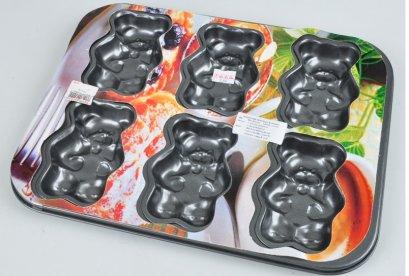 ถาดอบพืมพ์หมี 6 หลุม BAKEWARE