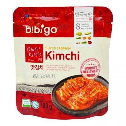 กิมจิกะหล่ำปลีหั่น(ซองแดง) Bibigo  CJ. 100 ก.