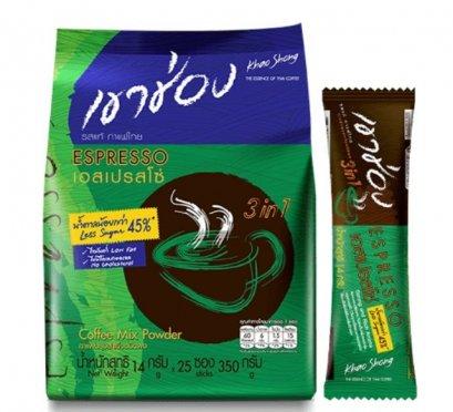 กาแฟ3IN1น้ำตาลน้อยเขาช่อง 350 ก. 1*25*14เอสเปรสโซ่