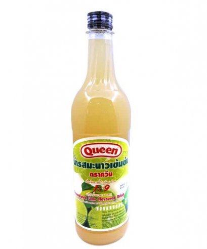 น้ำผลไม้มีเนื้อผลไม้ ควีน มะนาว 730 ซีซี