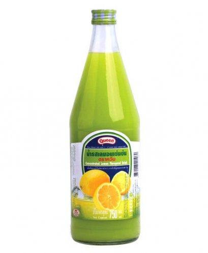 น้ำผลไม้เข้มข้นควีน เลม่อน(มะนาว) 750 ซีซี