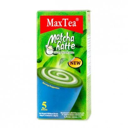 ชาเขียวปรุงสำเร็จ Max Tea มัทฉะลาเต้100 ก. 1*5*20