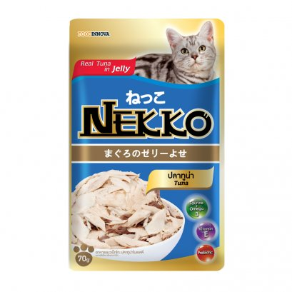 อาหารแมวเน็กโกะ เพาซ์ 70 ก. ทูน่าในเยลลี่