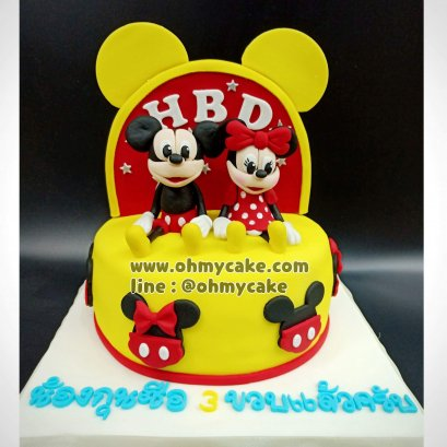 Mickey Minnie Fondant Cake
