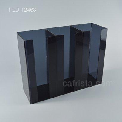 กล่องใส่แก้วอะคริลิค 3 ช่อง สีดำ