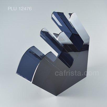 กล่องใส่หลอดอะคริลิค 2 ช่องครึ่ง สีดำใส