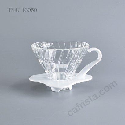 ดริปเปอร์แก้ว HARIO V60 01 Glass Dripper (1-2 cups) White
