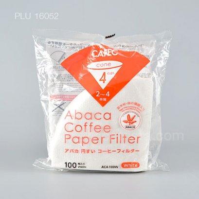 กระดาษกรองดริฟกาแฟ CAFEC (สีขาว) Abaca Coffee Paper Filter ขนาด 4 CUP