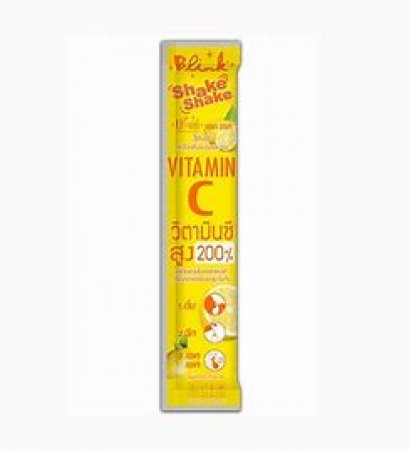 ลด 50% บริ๊งค์ เชค เชค วิตามินซี ขนาด 5 กรัม Blink Shake Shake Vitamin C 40 ซอง แถมฟรี 40 ซอง