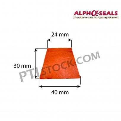 ซีลตู้อบสี่เหลี่ยมคางหมู Trapezoid rubber profiles