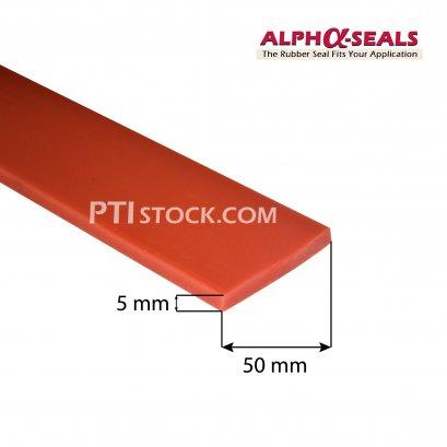 ซีลยางสี่เหลี่ยมซิลิโคน 5x50 mm
