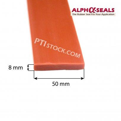 ซีลยางสี่เหลี่ยมซิลิโคน 8x50 mm