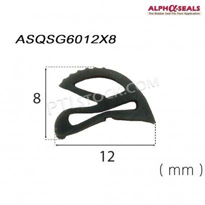 ซีลยางโปรไฟล์หน้าตัดพิเศษ   ASQSG6012X8