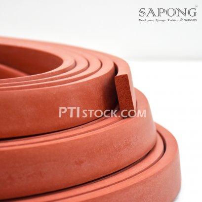 ยางฟองน้ำซิลิโคนแดงอิฐ 10 x 30 mm